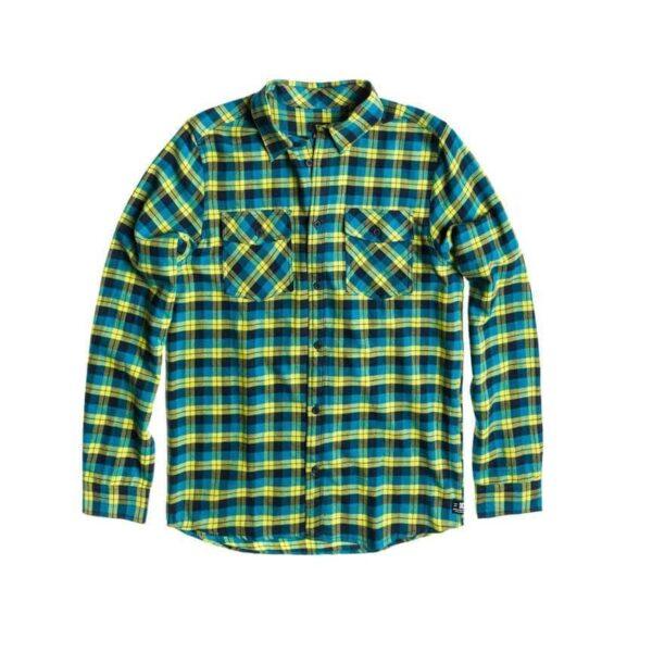 DC Mens Long Sleeve Flannel Shirt