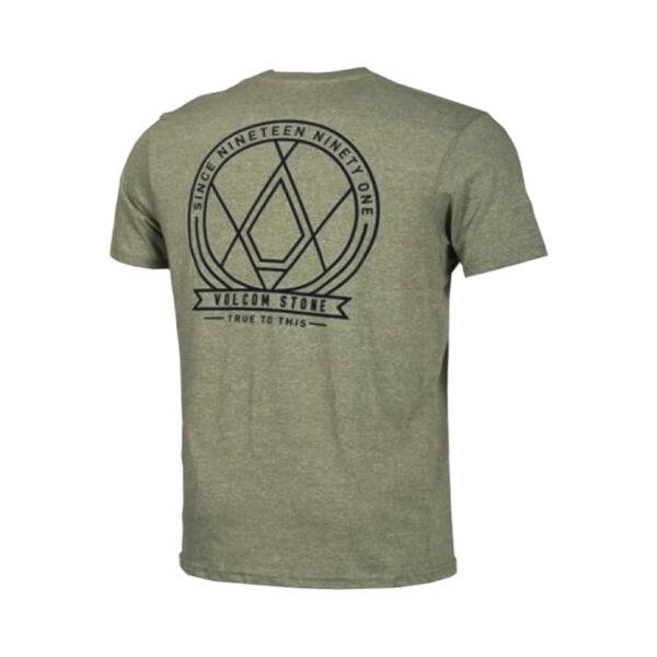 Volcom Mens One Liner Pocket T Shirt Vineyard Green 1