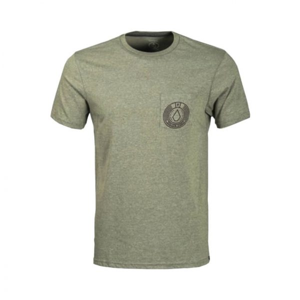 Volcom Mens One Liner Pocket T Shirt Vineyard Green