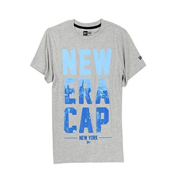 New Era Branded Cityscape Short Sleeve T Shirt