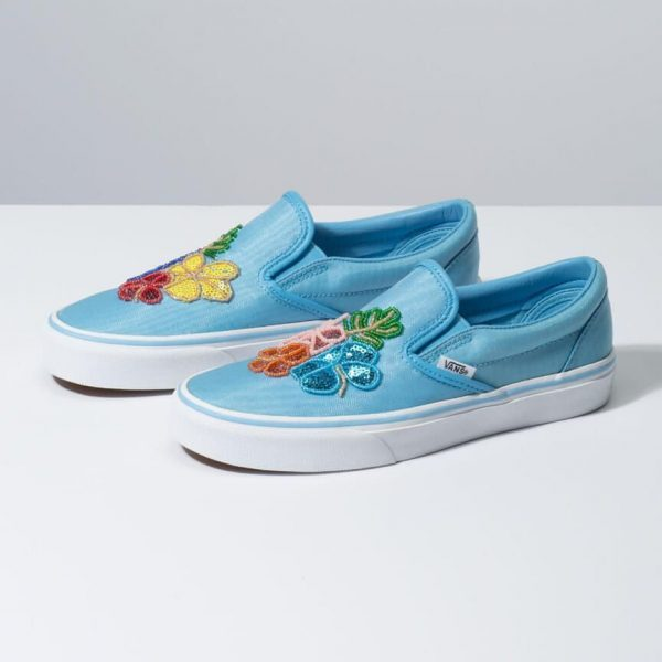 VANS FLORAL SEQUINS SLIP ON 2