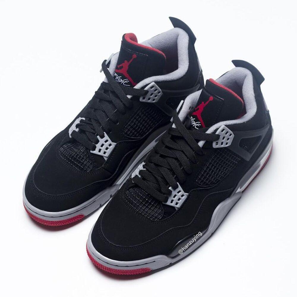air jordan 4 bred black red 2019 308497 060 4