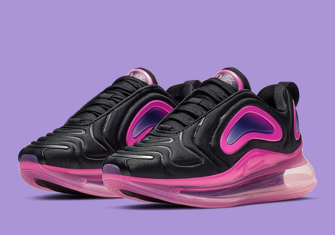 nike air max 720 kids black pink 3196 007 1