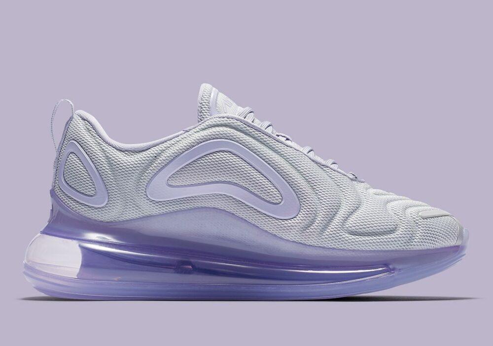 Nike Pairs Pure Platinum con Oxygen Purple en el Air Max 720