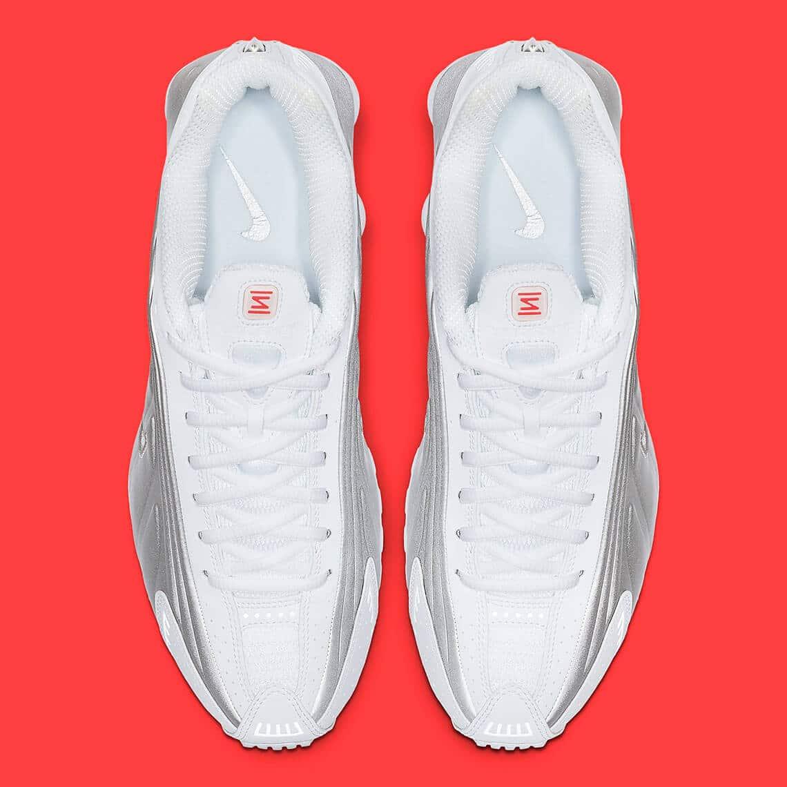 nike shox r4 white crimson 104265 131 5