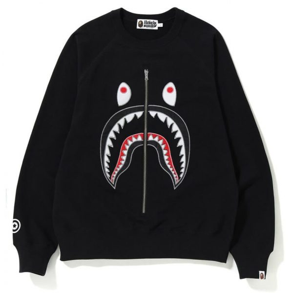 BAPE APPLIQUE SHARK CREWNECK