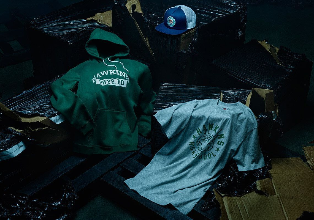 stranger things nike hawkins apparel