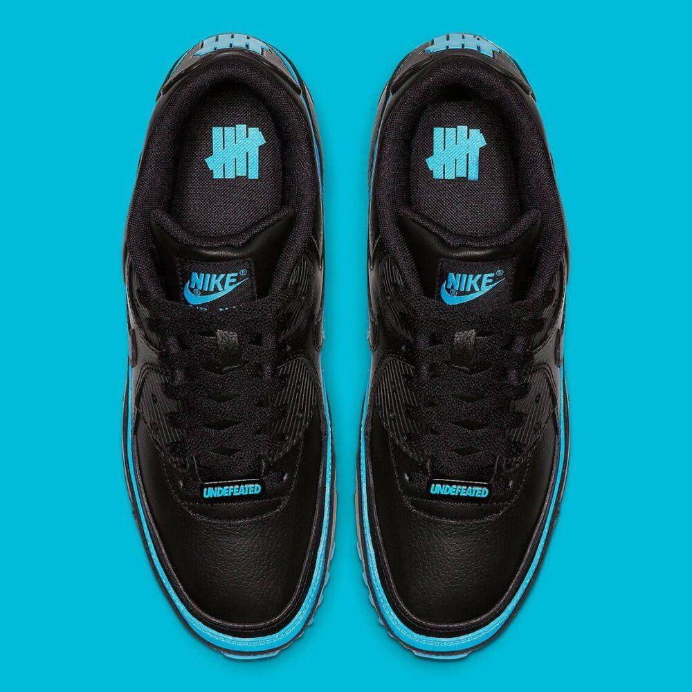 undefeated nike air max 90 black blue fury CJ7197 002 photos 2