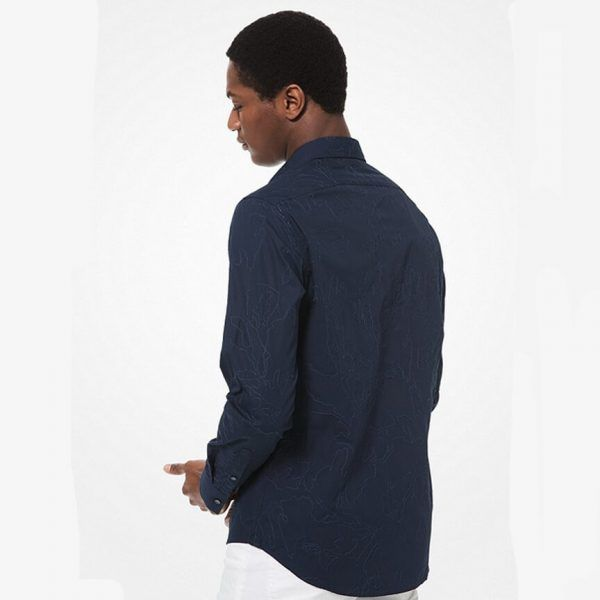 Michael Kors Slim Fit Embroidered Cotton Shirt 1