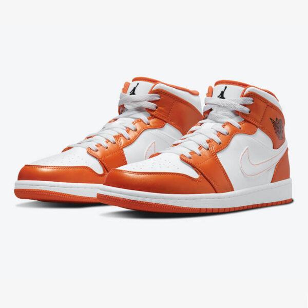 Air Jordan 1 Mid Metallic Orange