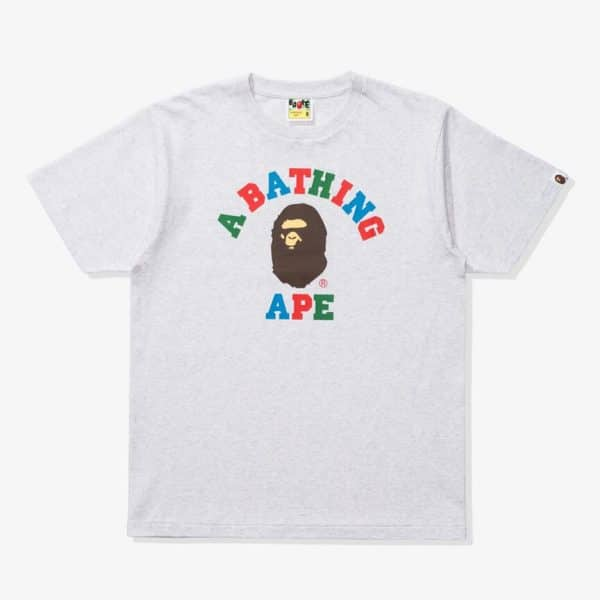 BAPE COLORS COLLEGE TEE 1