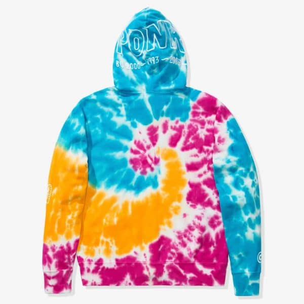 BAPE TIE DYE SHARK WIDE FULL ZIP HOODIE