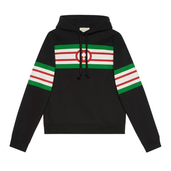 Gucci stripe print hoodie