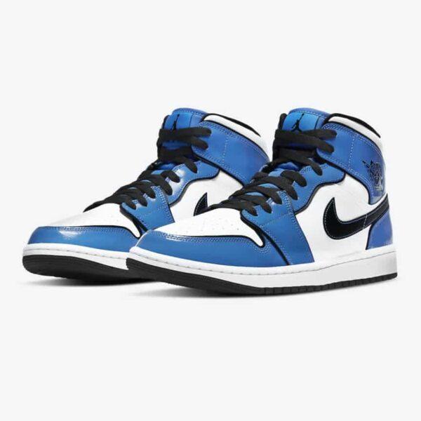 Jordan 1 Mid Signal Blue 1