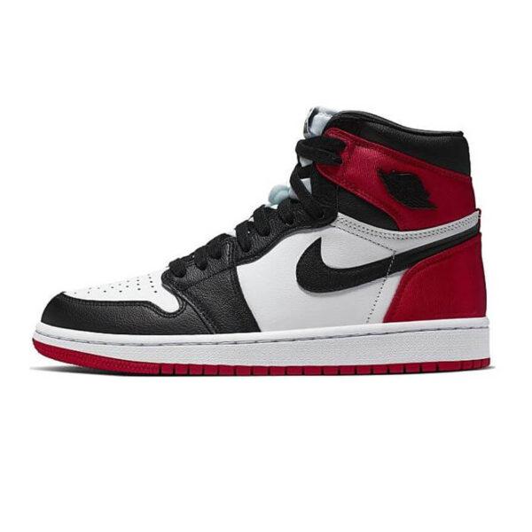 Jordan 1 Retro High Satin Black Toe 1