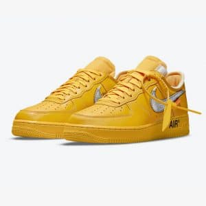 Nike Air Force 1 Low OFF WHITE University Gold 1