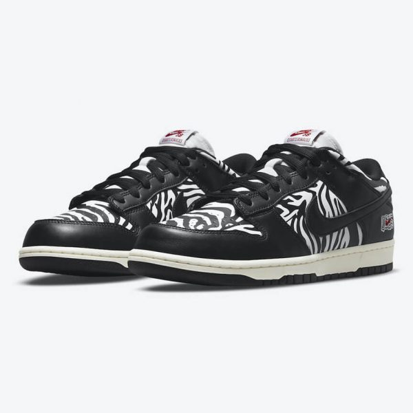 Nike SB Dunk Low Quartersnacks Zebra 1