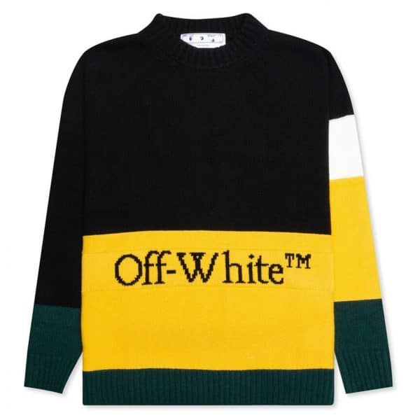 OFF WHITE ABLOH COLOR BLOCK OFF CREWNECK 1