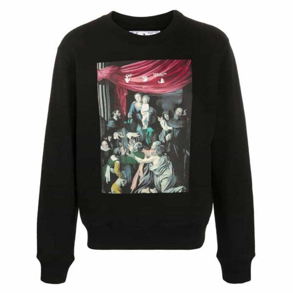 Off White Caravaggio Painting long sleeve sweatshirt
