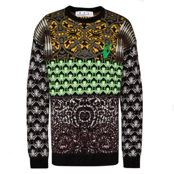 Off White Persian Fantasy knitted jumper