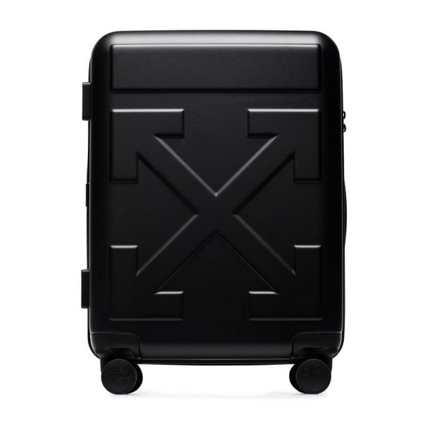 Off White arrow detail trolley suitcase 1