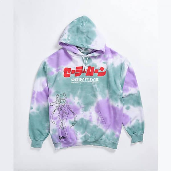 Primitive x Sailor Moon Washed Purple Green Hoodie