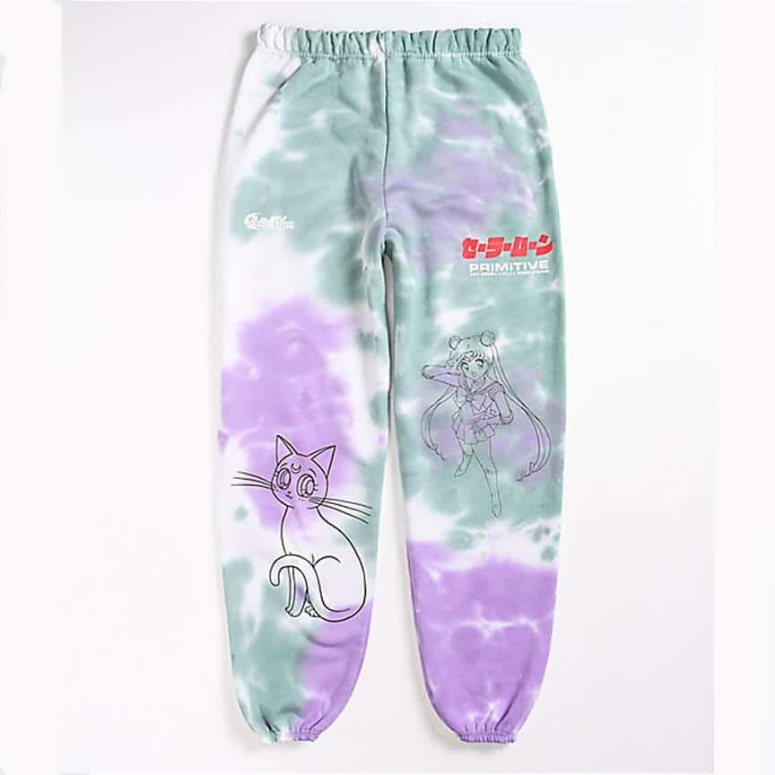Primitive x Sailor Moon Washed Purple Green Sweatpants