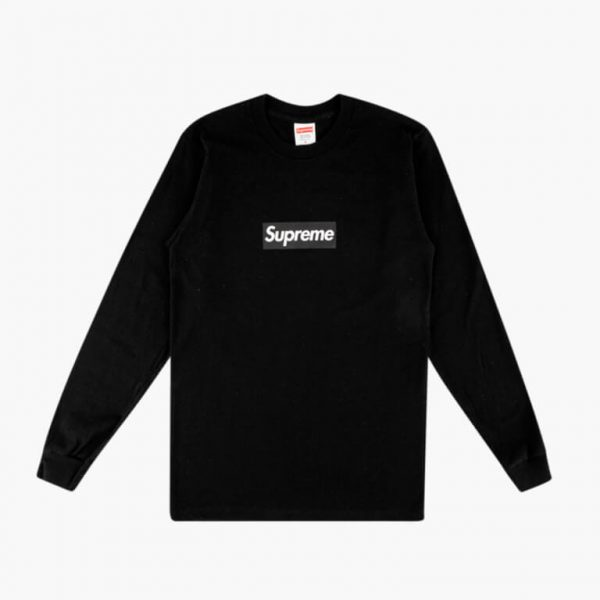 Supreme Box Logo L S Tee Black