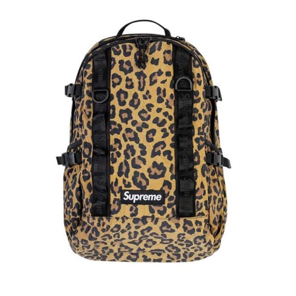 Supreme leopard print backpack