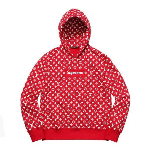 Supreme x Louis Vuitton Box Logo Hooded Sweatshirt Red