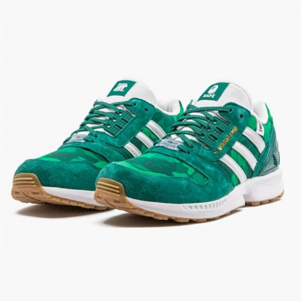 adidas zx 8000 bape undefeated green 1