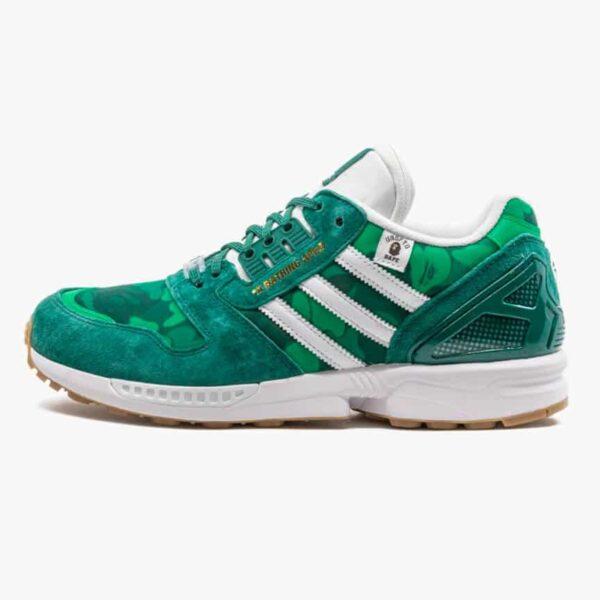 adidas zx 8000 bape undefeated green 2
