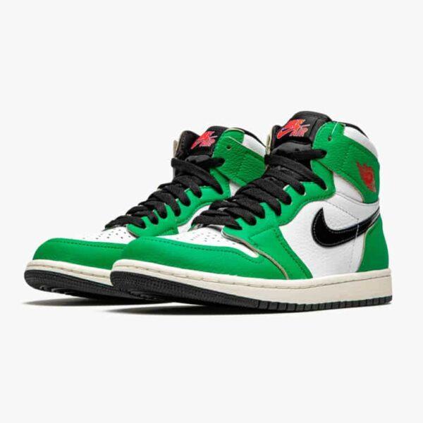 air jordan 1 retro high lucky green w 1