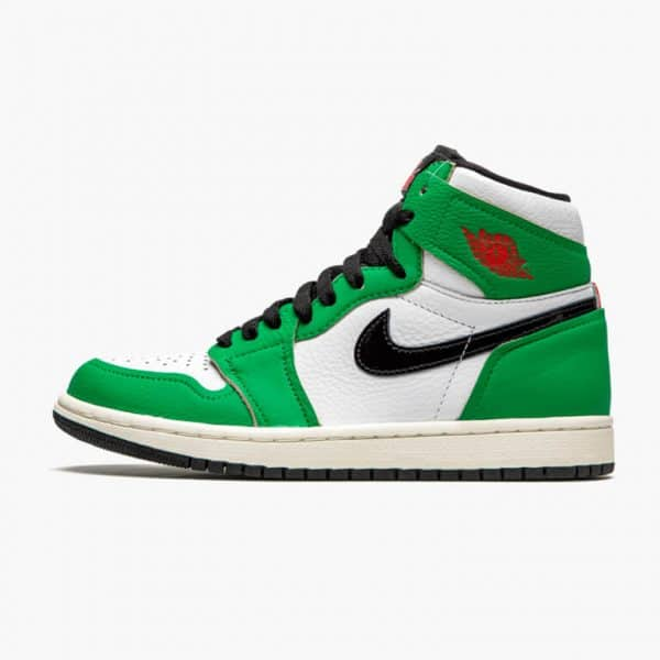air jordan 1 retro high lucky green w 2