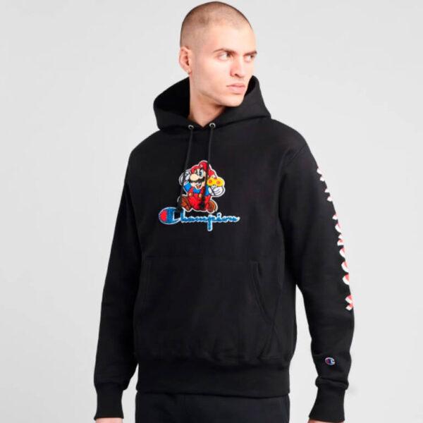champion mario reverse weave pullover hoodie