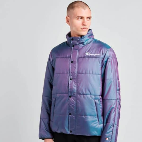champion puffer jacket with packable hood 1