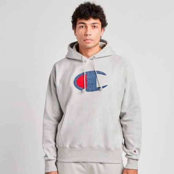 champion reverse weave pullover hoodie big logo 2