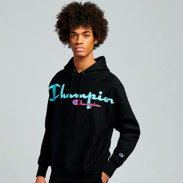 champion reverse weave pullover hoodie model 3