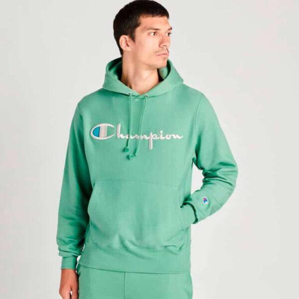 champion reverse weave pullover hoodie model 4