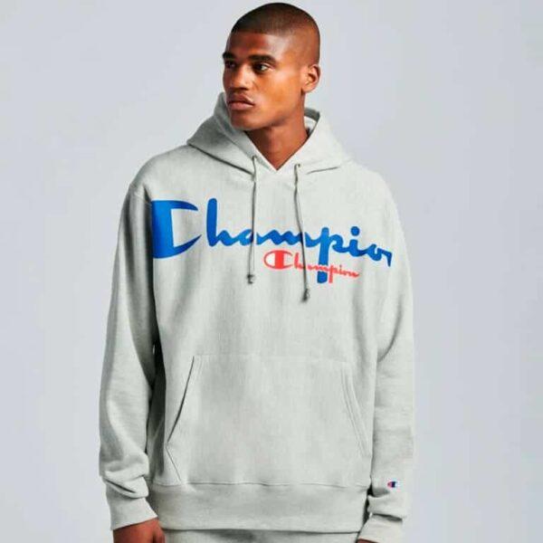 champion reverse weave pullover hoodie model 6