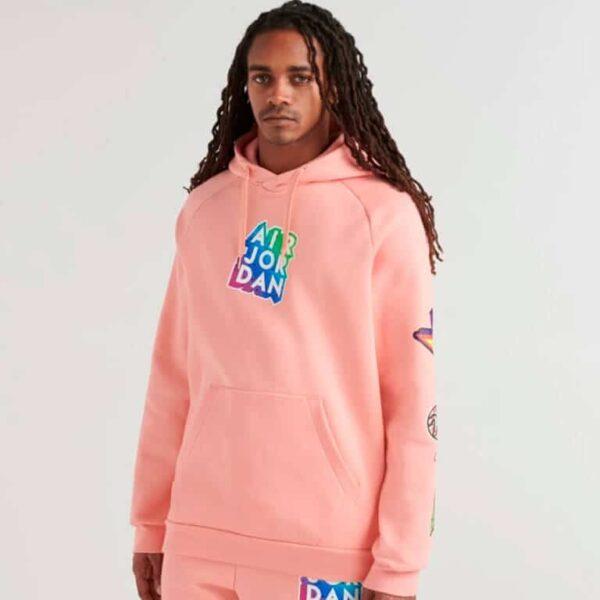jordan michael jordan sticker pullover hoodie