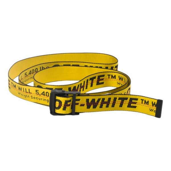 off white industrial belt ss19 yellow black
